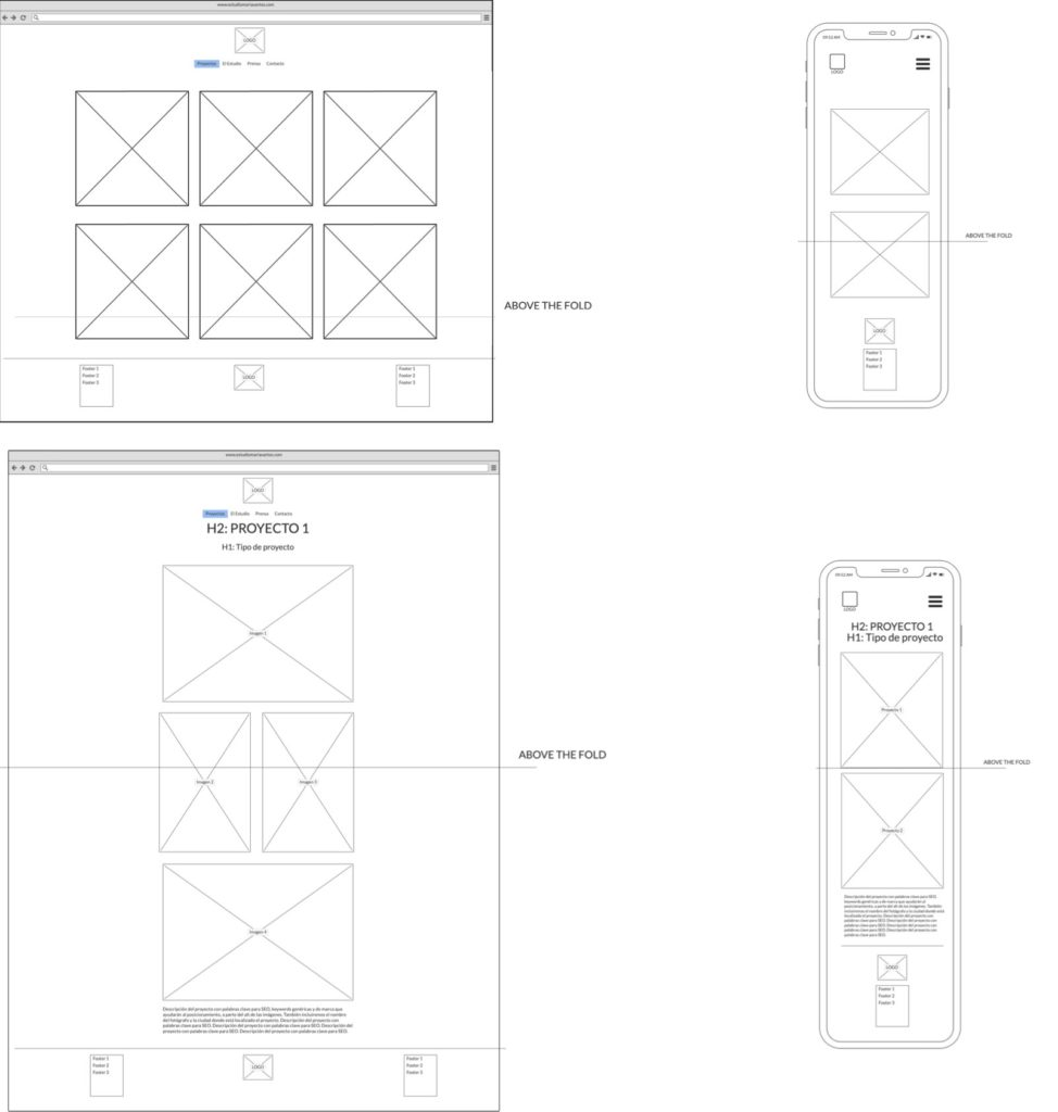 Wireframes low balsamiq